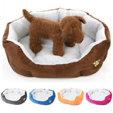 Small Pet Dog Cat Puppy Soft Fleece Warm Nest Bed House Cotton Cushion Kennel