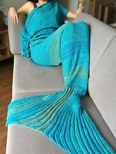 Super Soft Hand Crocheted Mermaid Tail Blanket Sofa Blanket Adults Sleeping Bags