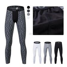 Mens Sports Apparel Skin Tights Gym Compression Base Under Layer 3/4 Long Pants