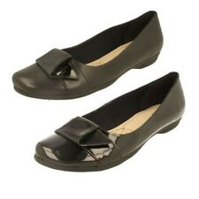 Ladies Clarks Slip On Flat Ballerina Shoes Label - Discovery Dime