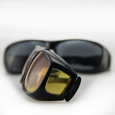 Unisex Driving Sunglasses New HD Night Vision Nice Over Wrap Around Glasses