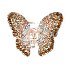 Crystal Rhinestone Butterfly Spring Hair Claw Clip Clamp Lady Hair Jewelry Gift