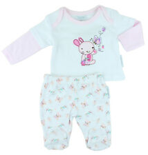 2 Piece Baby Girls Cotton Outfit - (Tiny Baby or Newborn)