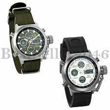 Military Men's Outdoor Sport Army Quartz Multi-function  Nylon Band Wrist Watch