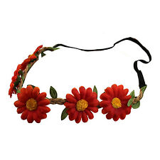 SA Women Boho Style Floral Flower Hairband Headband for Festival Party Wedding