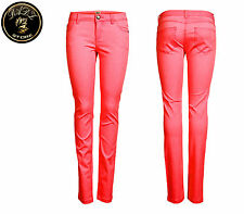 NEW ONLY Ladies Hip NYNNE PANT Trousers SKINNY Neon Punk pink Size 34 - 40 SALE