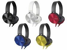 SONY MDR-XB450 Extra Bass Headphones Black White Red Blue Yellow NEW from Japan