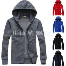 Fashion Men's Casual Slim Fit Sports Hoodies Outwear Coat Hooded Jacket Clothes