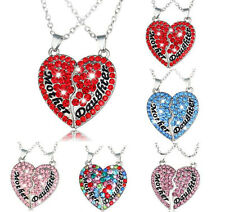 Clavicle Chain Gift Heart-Shaped Fashion Necklace Pendant Alloy Jewelry Crystal