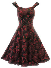New Red H&R Victorian Retro Corset style Gothic Revival Burlesque Party Dress
