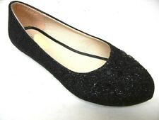 New women basic round toe  jeweled glitter ballet flats slip on loafer shoes