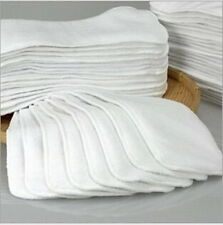 1-20Pcs Reusable Baby inserts liner for Cloth Diaper Nappy microfiber Optional D