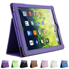 Litchi  Leather Cover Case For iPad 2 3 4 sleep wake up function Stand Flip RI