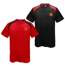 Manchester United Football Club Official Gift Mens Poly Training Kit T-Shirt