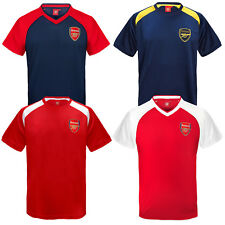 Arsenal Football Club Official Soccer Gift Boys Poly Training Kit T-Shirt