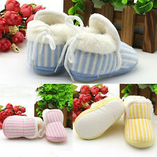 1 Pair Winter Baby Striped Newborn Cotton Shoes Boy Toddler New Hot Girl Warm