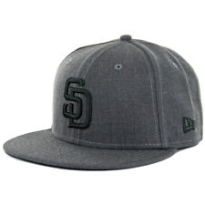 New Era 59Fifty San Diego Padres HGP BK Fitted Hat (Heather Graphite Black) Cap
