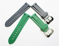 24MM SILICONE RUBBER WATCH BAND STRAP BAND FOR PANERAI WATCHES PAM 44MM