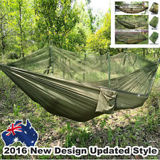 Portable Outdoor Jungle Camping Camouflage Military Hammock with Mosquito Net