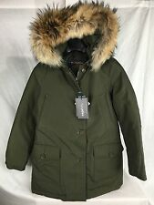 NEW WOOLRICH ARCTIC PARKA DF WOMENS GREEN JOHN RICH BROS DOWN JACKET FAST SHIP
