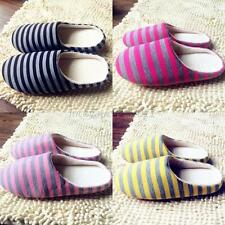 Unisex Home Anti-slip Shoes Winter Warm Sandal Indoor Stripe Couple Slippers New