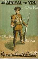 An Appeal To You - Give Us a Hand - WW1 Recruitment Irish Poster Print