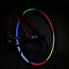 Fluorescent Bike Bicycle Cycling Wheel Tire Rim Reflective Sticker Decal Tape