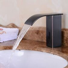 Oil Rubbed Black Automatic Sensor Touchless Waterfall Faucet Bathroom Basin Tap