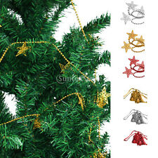 Christmas Star Bell Xmas Tree Decorations Ornament Ball Chain Hanging String