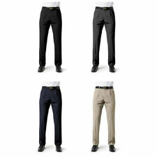 MEN BUSINESS CASUAL CLASSIC PLEAT FRONT PANTS TROUSERS STRETCH OFFICE FB BS29110