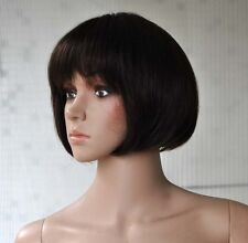 New women lady s short bobo full wig wigs hairpiece,100% real natural human hair