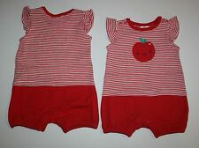 New Gymboree Red Apple Stripe Summer One Piece Romper NWT 0-3m 3-6m 6-12m 12-18m