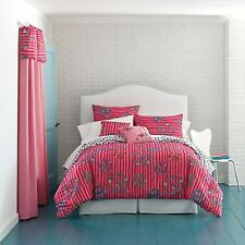Total Girl Misha Peace Sign Comforter Set Twin Full/Queen Pink NEW Bedding JCP