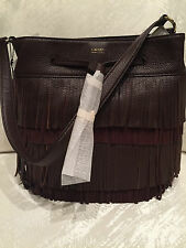 Ralph Lauren Handbag Drawstring Cobden Bucket Brown Leather NWT $268
