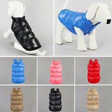 Dog Coat Puffer Jacket Vest Pet Clothes Winter Apparel Clothing Puppy Costume