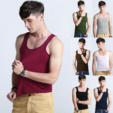 Mens Boys Tank Top Muscle Sleeveless T-shirts Sportwear Vest Undershirts Cool