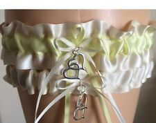 Ivory and Yellow Wedding/Prom Garter Set Includes Tossing Garter -Lot5050