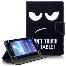 """Don't Touch My Tablet 7"""" 8"""" 10"""" Tablet Universal Folio Stand Box Case For Lenovo"""