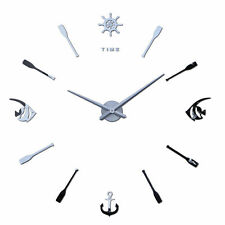 Bedroom  DIY Large Wall Clock Home Office Room Decor 3D Mirror Surface Sticker