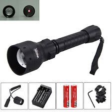 OSRAM Infrared IR 850nm Night Vision Red LED Zoom Flashlight Light Mount Switch