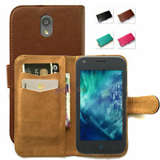 Fitted Stand Design PU Wallet Case Cover for Telstra 4GX Smart / ZTE A112 / A110