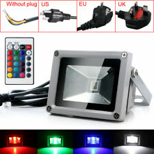 10W RGB Waterproof LED Flood Spot Light Outdoor Landscape Home Garden Wall Lamp