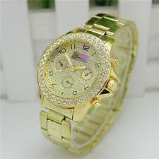 Fashion Women's Stainless Steel Crystal Bracelet Analog Quartz Wrist Watch Gift
