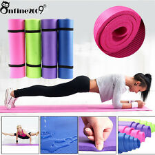 Durable 6/10/15MM Thick Non Slip Yoga Mat Pad Exercise Fitness Gym Cushion LOT