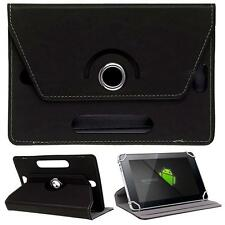 "Black 7"" 8"" 10"" Tablet Universal 360° Rotating Folio Stand Box Case For Apple"