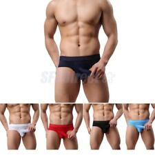 Mens Seductive Mesh Bulge Pouch Soft Breathable Briefs Shorts Panties Underpants