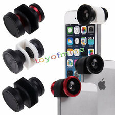 New 3in1 Camera Set Fisheye, Wide Angle, Macro Lens For IPhone 5 5S SE Hot sales