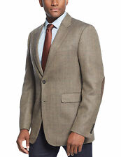 Nautica Classic Fit Brown Tweed Wool Blend Blazer Sportcoat With Elbow Patches