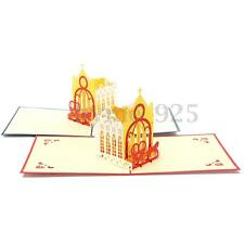 3D Pop Up Greeting Card Thanksgiving Birthday Happy Valentine Day With Envelope