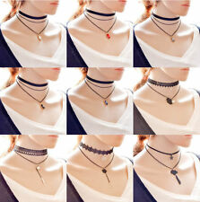 Fashion Women Choker Chain Necklace Vintage Style Layer 3 Hot Gothic Style New